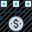 banking, cashflow, economy, money cycle, transaction icon