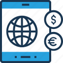 banking, finance, mcommerce, mobile, mobile banking icon