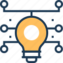 bulb, idea, innovation, smart solution, solution icon