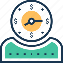 appointment, clock, duration, meeting, time is money icon