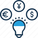 currency, finding, forex, investment, money icon