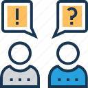 answer, faq, help, question, questionnaire icon
