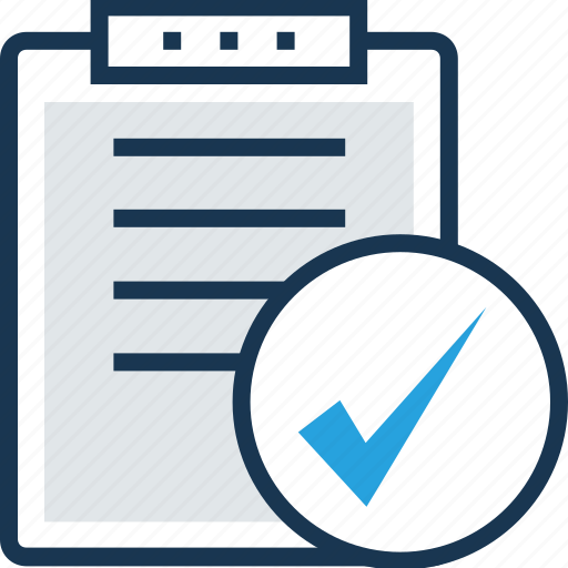 Checkmark, clipboard, done, task completed, tick icon   512 x 512 png 29kB