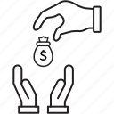 coin, currency, give, money, payment icon