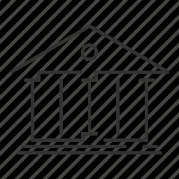 bank, building, business, column, finance, greek, house icon