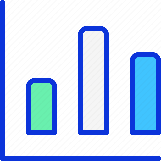 bar, bar chart, chart, graph, progress icon