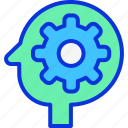 brain, brainstroming, gear, idea icon