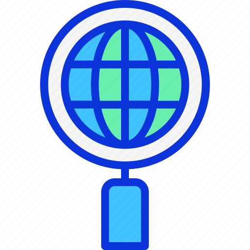 business, search, world, zoom icon