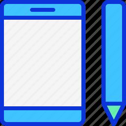 ipad, pen, pentablet, smartphone, tablet icon