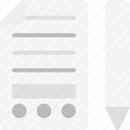 contract, finance business, letter, mail, text, write icon
