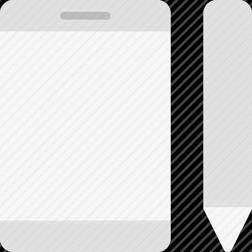 device, finance business, ipad, mobile, smartphone, tablet, wacom icon