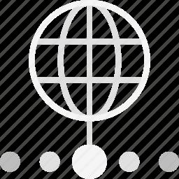 finance business, globe, international, internet, wide, wifi, world icon