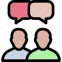 dialogue, discuss, meeting icon