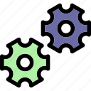 configuration, customize, gear icon