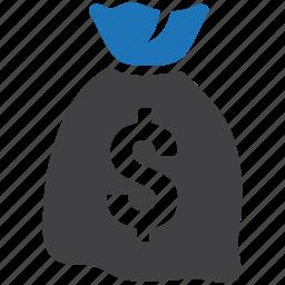 cash, money, moneybag, purse, rich, sack icon