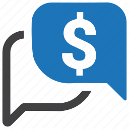 bubble, chat, dollar, message, money, sale offer icon