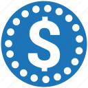 cent, coin, dollar, money, stack icon