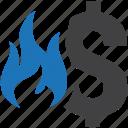 bad, damage, financial, loss, lost, money, waste icon