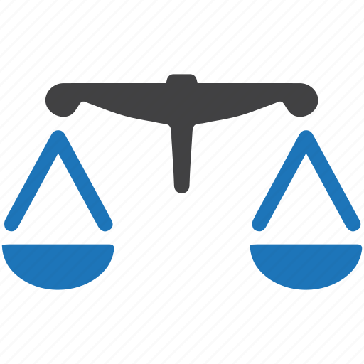 balance, court, justice, law, legal, scales, weigh icon