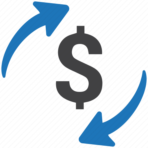 banking, conversion, currency, dollar, exchange, finance, money icon