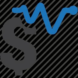 analysis, dollar, finance, graph, money, reports, statistics icon