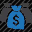 finance, investment, money bag