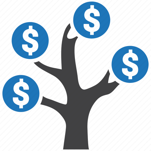 dollar, finance, money, royalty, scam, tree icon