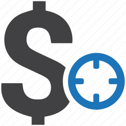 aim, business, currency, dollar, finance, money, target icon