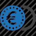 coin, euro, finance, money