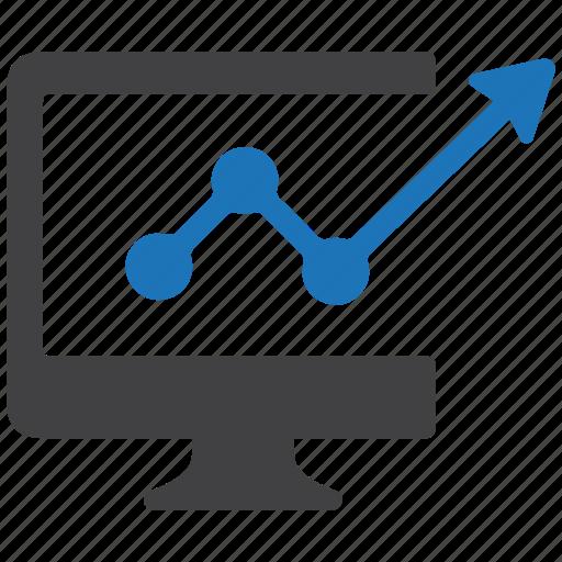analysis, business, finance, graph, internet, monitoring, progress, statistics icon