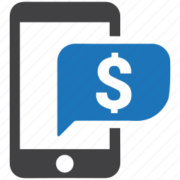 check balance, ecommerce, finance, mobile banking, online banking, payment, smartphone icon
