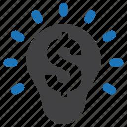 business, dollar, finance, idea, money, smart, solution icon