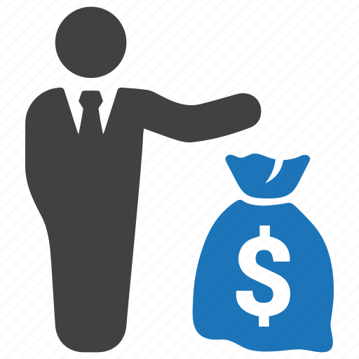 business, businessman, finance, investment, money bag, payment icon