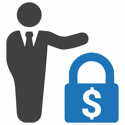 banking, finance, loan, lock, protection, secured, security icon