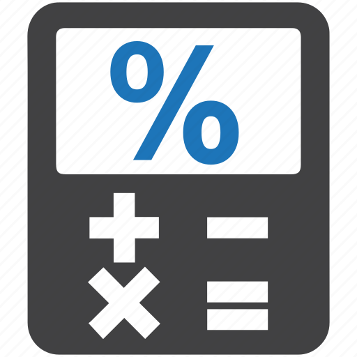 calculation, calculator, maths, percent sign, percentage icon