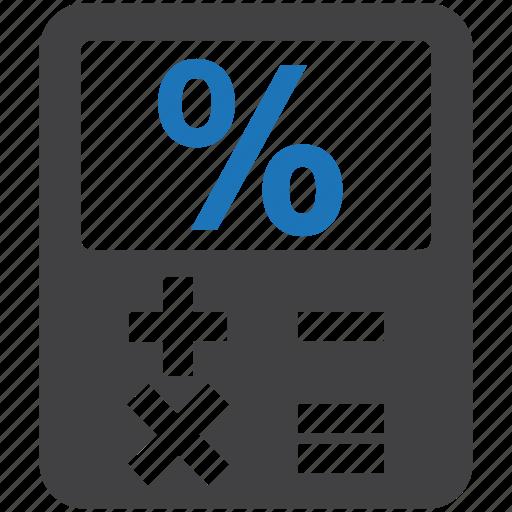 calculation, calculator, maths, percent sign, percentage icon