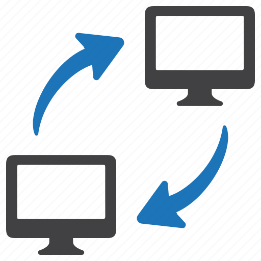 data share, data storage, network share, pc share, server share icon