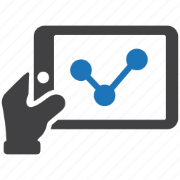 analysis, graph, market, report, share market, statistic, stock market, tablet icon