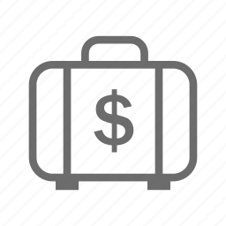 banking, business, commerce, finance, money, money bag icon