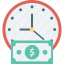 currency, investment, investment time, time, wealth icon
