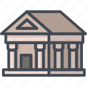 bank, building, business, filled, finance, outline icon