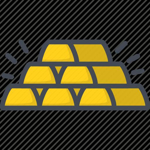 Bar, business, filled, gold, golden, outline icon - Download on Iconfinder