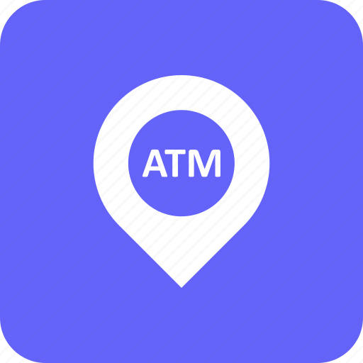address, atm, bank, location, withdrawal icon