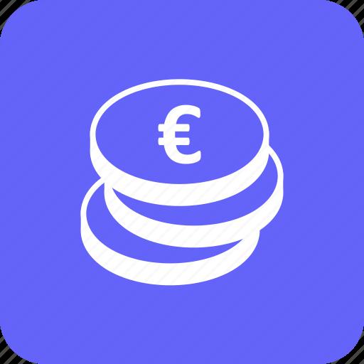 cash, coins, credit, currency, debit, euro, money icon
