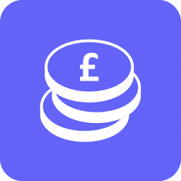 cash, coins, credit, debit, finance, money, pound icon