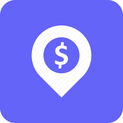 address, atm, bank, dolar, location, map, pin icon