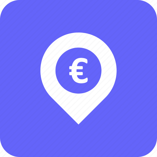 address, bank, business, currency, euro, location, map icon
