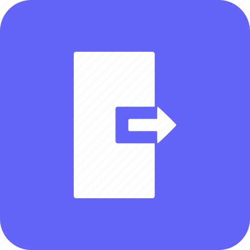 close, door, exit, log out, navigation, right, sign icon