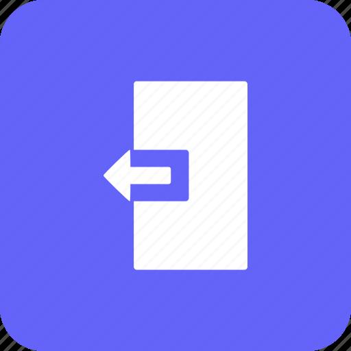 close, door, exit, left, logout, navigation icon