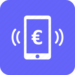 currency, euro, mobile, mobile pay, pay, scan icon